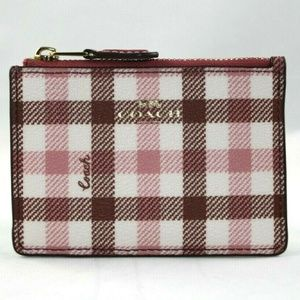 MINI SKINNY ID CASE WITH GINGHAM PRINT F77898
